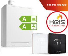 Intergas kombi kompakt HRE 24-18 A incl. ruimtethermostaat comfort touch