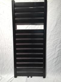 capri mat zwart badkamer radiator 115 x 50 cm 612 watt