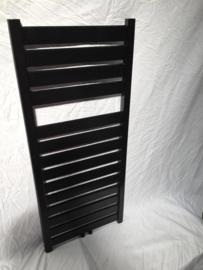 capri mat zwart badkamer radiator 142 x 50 cm 767 watt
