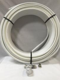 4 m2 vloerverwarming h.o.h 10 cm met rtl ventiel en buis