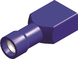 Kabelschoen 1542 vrouw blauw 6,3 mm geïsoleerd  (50 stuks) - SC1663B