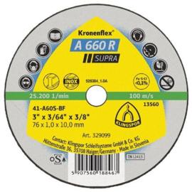 Klingspor kleine doorslijpschijf, 76 x 1,0 x 10 mm, (25 stuks) - 329099