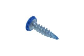 Kentekenplaatschroef blauw anti diefstal 6X23 mm (50 stuks) - AMAB6-23