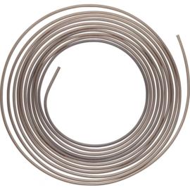 Remleiding  koper/nikkel 5 meter x  6,35 mm - 94405