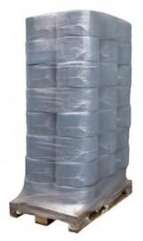 Pallet voordeel blauw papier, 2 laags,  96 rollen - ( € 7,99 p/rol) - CA04415