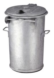 Vuurbestendige vuilnisemmer met deksel, thermisch verzinkt,  110 liter - 996523