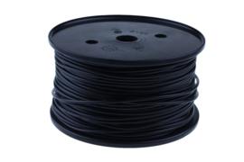 Kabel pvc 1,5mm² ZWART, 50 meter - 360101104