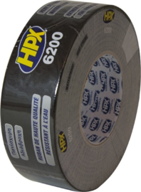 Hpx duct tape zwart, 50 mm x 50 m - CB5050