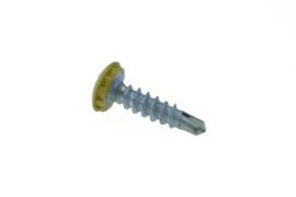 Kentekenplaatschroef geel anti diefstal  6X23 mm (50stuks) AMAG6-23