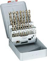 Spiraalborenset DIN338 HSS-Co 5% 19-delig 1-10mm x0.5mm - 288995