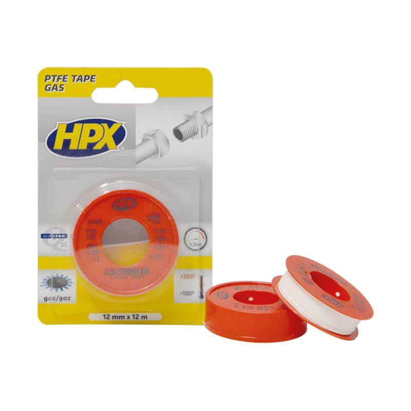 Hpx ptfe gasdichting tape wit, 12 mm x 12 m - PT1212