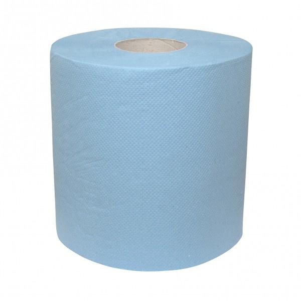 Blauwe papier rol, dubbel laags, 190 meter x 26cm - CA0021