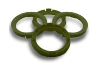 Centreerringen set 70.4->65.1mm Olive groen (704651)