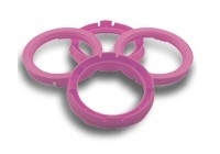 Centreerringen set 72.5->64.1mm Rose (725641)
