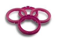 Centreerringen set 72.5->56.1mm Ruby rood (725561)