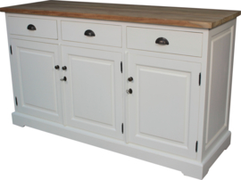 JATIBEL Dressoir 3-D  White & Teak