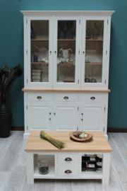 JATIBEL  White & Teak Salontafel 100 x 70 cm