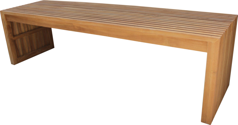Grid Bench Teak  180 cm.  breed