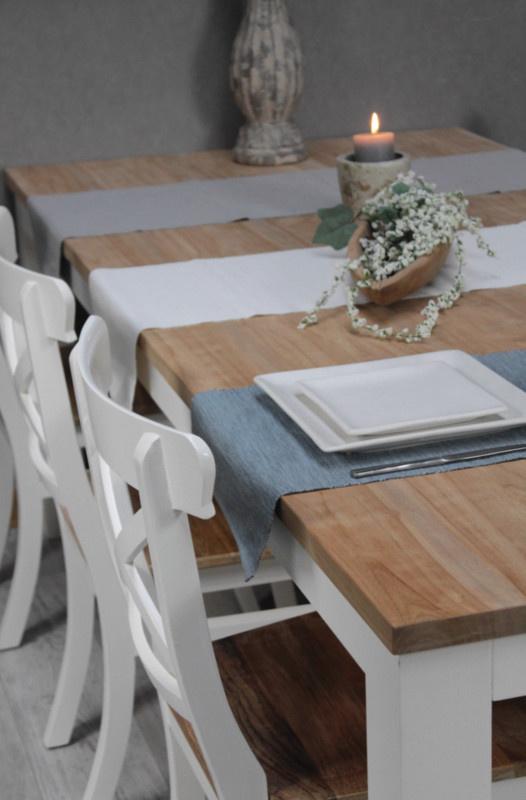 JATIBEL White & Teak eettafels 160 |180|200|220|240