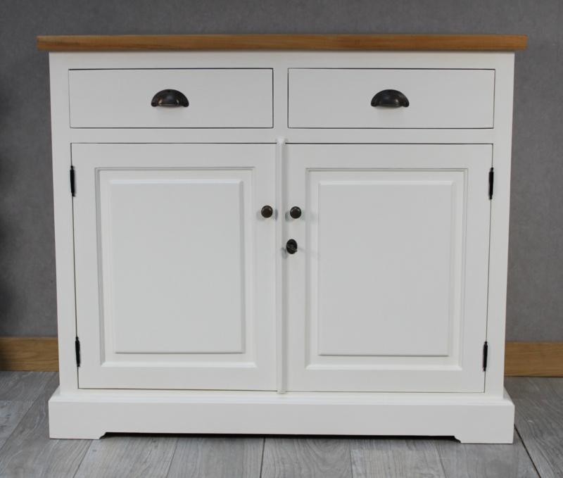 JATIBEL Dressoir 2-deurs  White & Teak