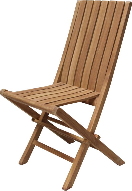 TEAK Tuinset: Tafel 160x90 + 4 stoelen