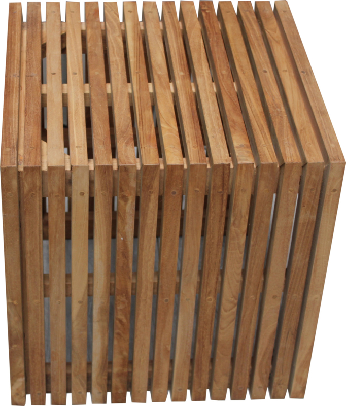Grid Stool Teak 50x50x50