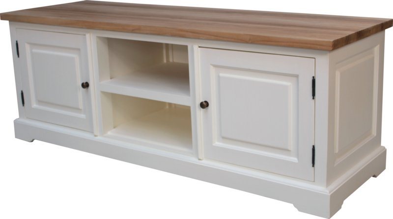 JATIBEL TV meubel White &Teak 150 cm.