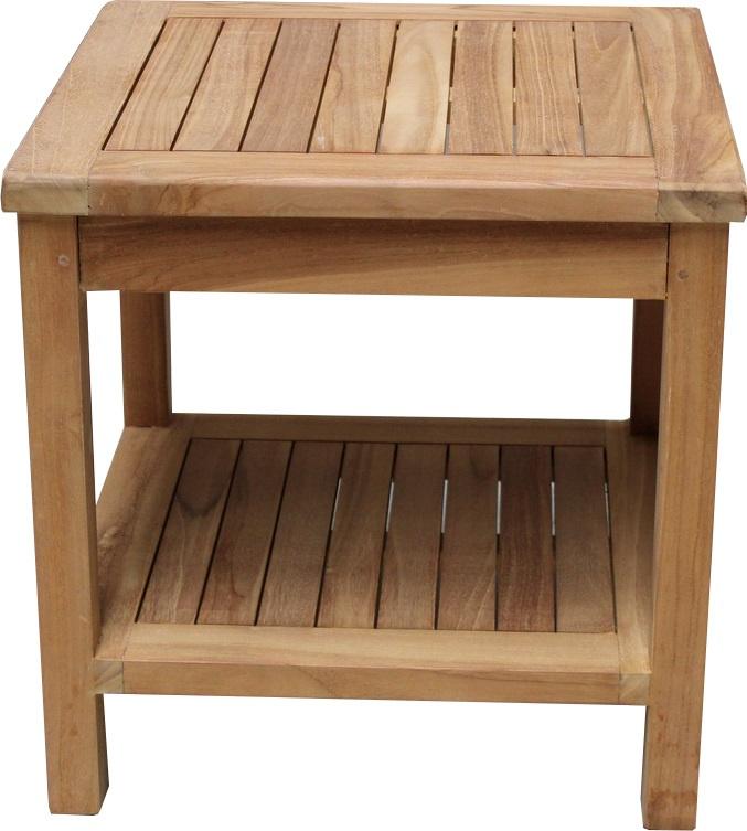 TEAK lage tafel 50x50x50  2-laags