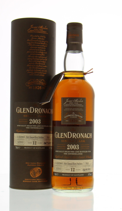Glendronach 2003 Single Cask 1823 Specially for The Netherlands 12 yo