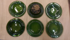Onderzetters van groene wijnfles