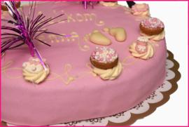 Geboorte taart Meisje (12pers)