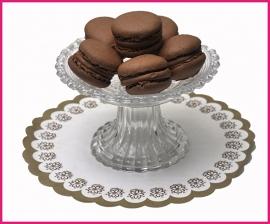 Macaron bruin (Chocolade) per stuk.