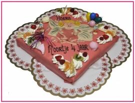 Prinses Lilifee taart 30 pers