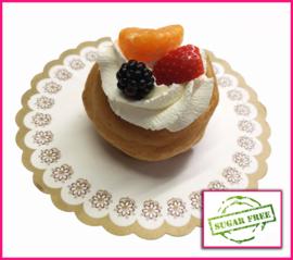 (Nieuw) Slagroomsoes vers fruit suikervrij.