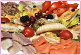 Zalm salade per persoon