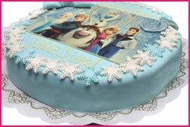 Frozen taart 25 pers (rond)
