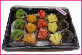 Mini Vruchten Tartelettes 15 stuks  (4cm)