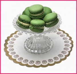 Macaron groen (Pistache) per stuk.