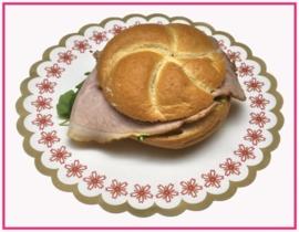 Broodje met Gebraden Fricandeau.