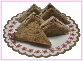 Mini Sandwiches Fricandeau per 2 stuks..