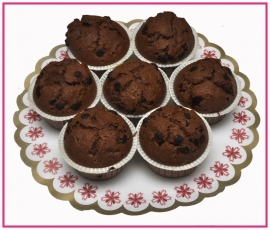 Chocolade Muffin  per stuk.