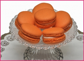 Macaron oranje (Sinaasappel) per stuk.