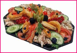 (Vernieuwd) Afschep Zalm salade per persoon.