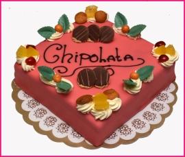 Chipolata taart geschikt vanaf  8 pers.