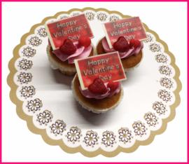 Cup cake Valentijns dag