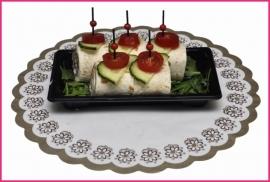 Mini Wraps met Rookvlees met Ei 5 stuks verpakt.