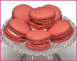 Macaron roze (Framboos) per stuk.