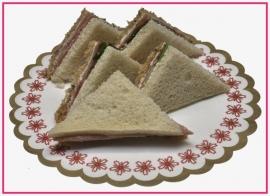 Mini Sandwiches Boerenham per 2 stuks..