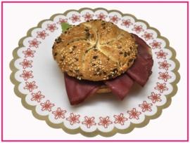 Broodje met Rookvlees.