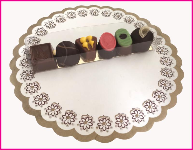 Bonbons 6 stuk verpakt 115 gram